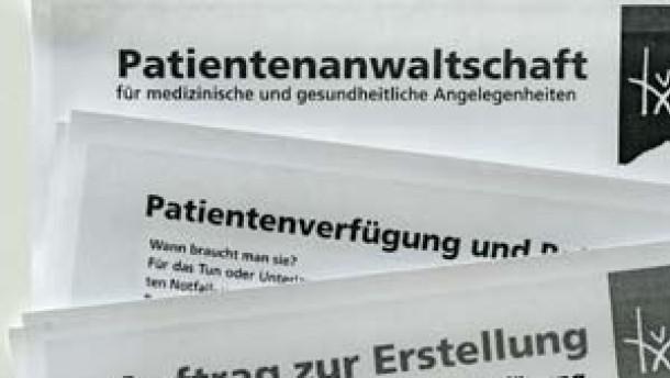 Antrag auf Patientenverfügung