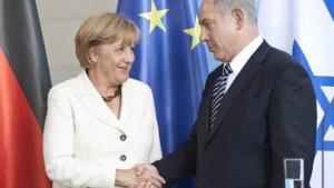 Merkel fordert Stopp von Siedlungsbau