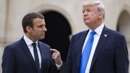 Macron und Trump betonen Gemeinsamkeiten