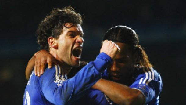 Ballack köpft Chelsea ins Halbfinale - Aus für Lehmanns Arsenal