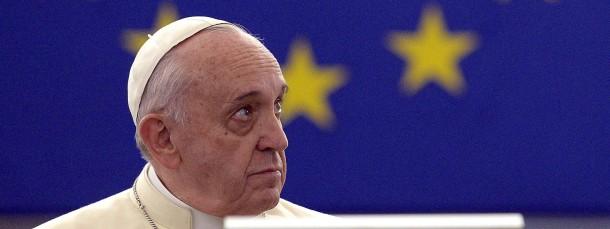 Papst Franziskus am Dienstag im EU-Parlament in Straßburg