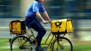 Die Post kommt mit dem E-Bike