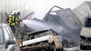 Inferno auf der Autobahn 19