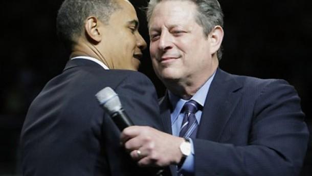 Jetzt ist auch Al Gore für Obama