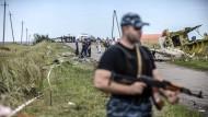 Chaotische Aufräumarbeiten in der Ostukraine