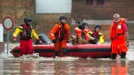 Leichte Entspannung in den Hochwassergebieten