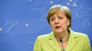 Angela Merkel zum Abschluss des EU-Gipfels