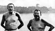 Badeten gern lau: Gustav Noske (links) und Friedrich Ebert