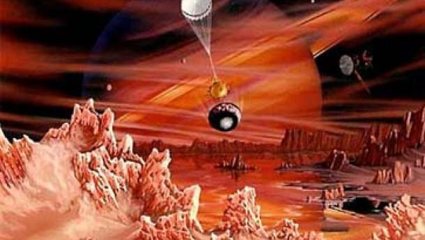 Die eisige Welt des Saturnmonds Rhea