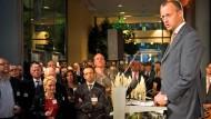 Friedrich Merz in Stuttgart, als Stargast auf dem Empfang der Börse am vorigen Mittwoch