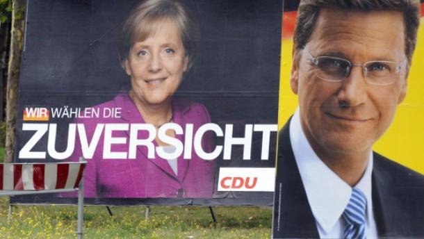 Mehrheit für Schwarz-Gelb - Sympathien für große Koalition