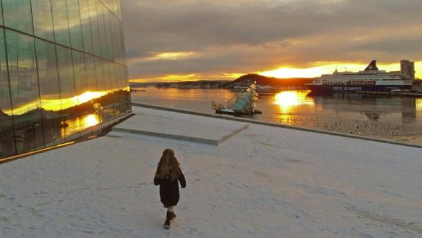 Winterspaziergang durch Oslo