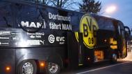 Pressekonferenz zum Anschlag auf den BVB-Bus