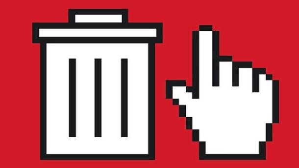 Illustration / Desktop icons Mülleimer und Hand