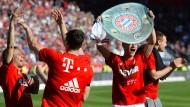 Bayern München - Fan-Freude über Meistertitel