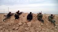 """Zu wenige: Diese Soldaten kämpfen gegen den """"Islamischen Staat"""", andere sind nie bei der irakischen Armee aufgetaucht."""