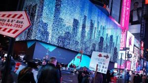Größte Werbetafel Amerikas in New York angeschaltet