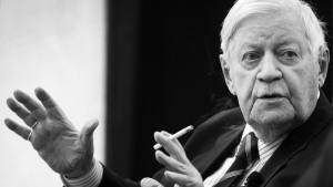 Helmut Schmidt ist gestorben