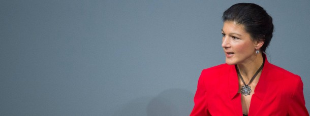 Linkspartei-Abegeordnete Sahra Wagenknecht ging mit der Regierungspolitik hart ins Gericht.