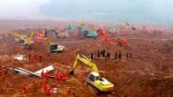 Mehr als 30 Gebäude des Industrieparks in Shenzhen wurden zerstört.
