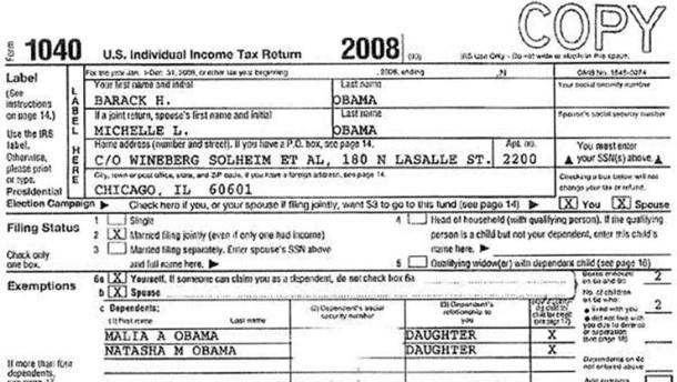 Obama veröffentlicht seine Steuererklärung