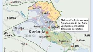 Viele Tote bei Anschlag nahe Kerbela