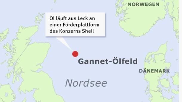 Shell bekämpft zweites Ölleck in der Nordsee