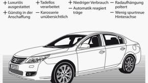 Infografik / Fahrtbericht / Renault Latitude