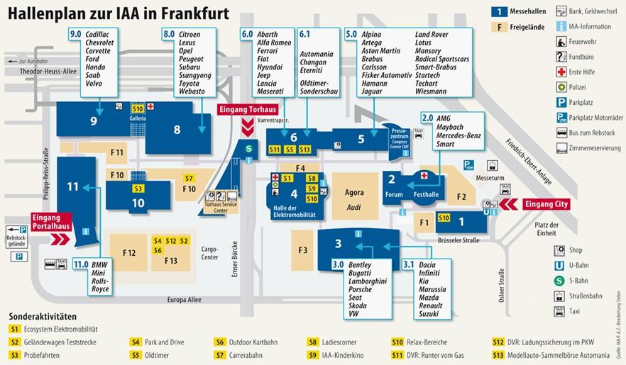iaa in frankfurt viele autos und eine viertelmillion w rstchen frankfurt faz. Black Bedroom Furniture Sets. Home Design Ideas