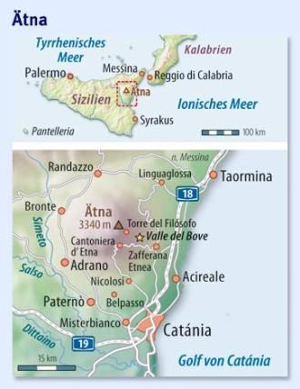 Sizilien Karte ätna.Wandern Am ätna Wenn Das Ungeheuer Siesta Hält Nah Faz