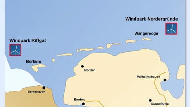 Zwei Inseln klagen gegen Windparks vor der Küste