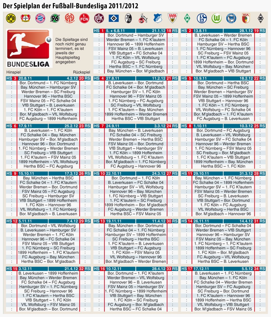 Bundesliga Spielplan 2021/16 Pdf