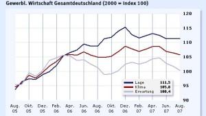 Krise trübt Wirtschaftsklima