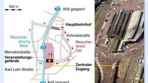 Infografik / Karte / Veranstaltungsgelände der Loveparade