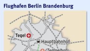 Infografik / Karte / Flughafen Berlin Brandenburg 1