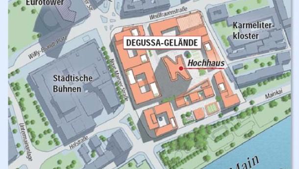Bürotürme und Wohnungen auf dem Degussa-Areal