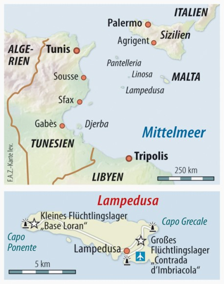 Italien Karte Lampedusa.Bilderstrecke Zu Lampedusa 25 Afrikaner In Libyschen