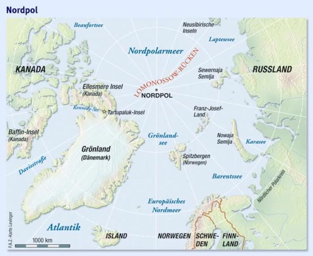 Nordpolarmeer Karte.Nordpolarmeer Karte Karte